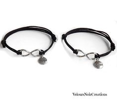 Infinity bracelet with charms hope and dream by Velours Noir Crèations, 17,00 € su misshobby.com