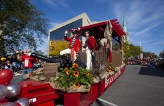 Brock's award-winning float in the Niagara Wine Festival Grande Parade featured a smoking cannon.