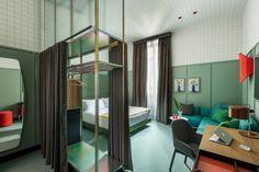 vintage-groene-muren-slaapkamer