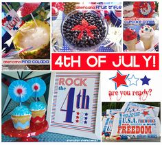 4th of JULY party ideas {round-up - free subway art + recipes}