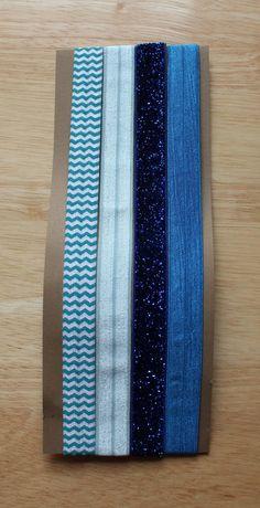 Elastic Headbands  blue party palette set of 4 by colormecaitie