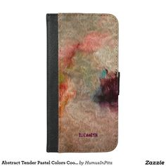 Abstract Tender Pastel Colors Cool Wool Imitation iPhone 6/6s Plus Wallet Case