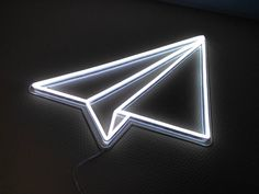 Paper Plane - 70 cm high This is an example of a model that we've created for one of our customer. We are specialised in custom neon signs. We produce on demand any shape/design of neons. Contact us for a personalised quote of your dreamed neon Neon Light Signs, Led Neon Signs, Neon Signs Quotes, Neon Aesthetic, Aesthetic Collage, Disco Licht, Neon Room, Custom Neon Signs, Diy Neon Sign
