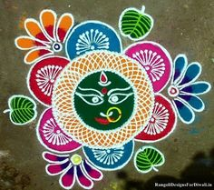 decorate your home & office by making Beautiful & Traditional Rangoli Designs, Rangoli Designs for Navratri