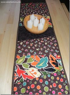 """Stack & Slash Table Runner {Tutorial} Ready for a quick and easy project? Perfect for your coffee table, or as a last minute gift. Perhaps make a few and keep them in your """"gift box"""" for those times when you need something for a friend."""