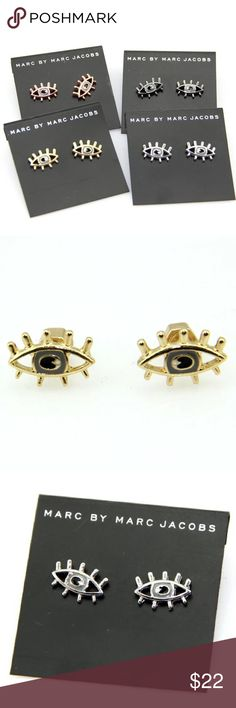 Marc by Marc Jacobs eye studs earrings ⚠️No trade. 💰Price is firm.  🎉3+ listing for 15% off.  🎉see more pics on IG @shopjanes_closet.  😍Details: brand new with tag. No price tag. Material unknown. Marc by Marc Jacobs Jewelry Earrings
