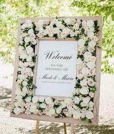 Floral-framed Entrance for a Spring Wedding