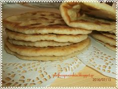 Cookbook Recipes, Cooking Recipes, Dinner Rolls Recipe, Greek Cooking, Pita Bread, Greek Recipes, Creative Food, Crepes, Bakery