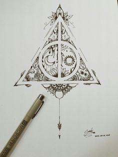 Trendy Tattoo Ideas Harry Potter Deathly Hallows Ink tattoo designs ideas männer männer ideen old school quotes sketches Harry Potter Tattoos, Arte Do Harry Potter, Harry Potter Drawings, Harry Potter Deathly Hallows, Deathly Hallows Tattoo, Harry Potter Sketch, Tattoo Sketches, Tattoo Drawings, Body Art Tattoos