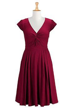I <3 this Twist front cotton knit dress from eShakti