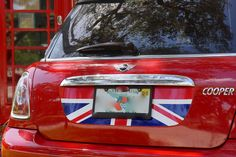 Mini Cooper R55 R56 Trunk Lid Decal - Exact Fit - Union Jack - Red White Blue English Flag