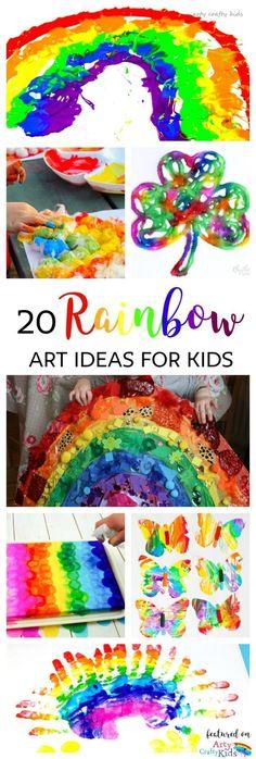 Arty Crafty Kids Art 20 Rainbow Kids Art Projects 20 beautiful rainbow art ideas for kids.patricks or Spring themed art for kids. Spring Art Projects, Spring Crafts For Kids, Easy Art Projects, Projects For Kids, Easy Preschool Crafts, Preschool Art, Kids Crafts, Easy Crafts, Toddler Crafts