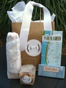 DIY gift baskets for out-of-towners. A nice thank you for those ...