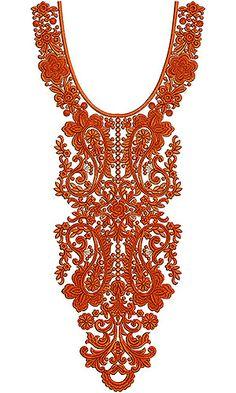 Muslim Dress Embroidery Design | Neck Yoke Gala
