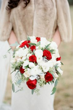 Red and White Bouquet   photography by http://www.brklynview.com/ Bouquet, Wedding Inspiration, Wreaths, Table Decorations, Happy, Holiday, Flowers, Instagram Posts, Home Decor