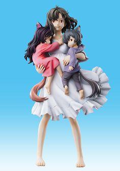 Wolf Children / Ookami Kodomo no Ame to Yuki - Chozo Art Collection: Hana & Ame & Yuki 21,5cm -  Medicos Entertainment