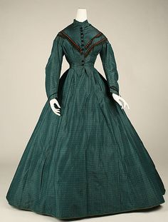 Dress 1863, American, Made of silk