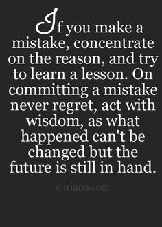 Life lesson!! And this is a good one! ♡