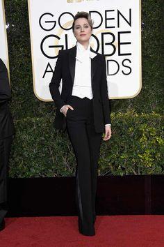 Rachel Evan Wood in Altazurra #redcarpet #GoldenGlobes #2017