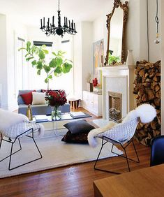 modern living room by The Marion House Book mixing traditional and modern