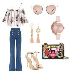 """Untitled #7"" by niken-laras on Polyvore featuring Balmain, Nasty Gal, Moschino, Fendi and Olivia Burton"