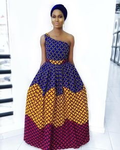 Every fashionable lady would love to be seen in the Latest Ankara Gown Styles. The creativity of Nigerian fashion designers brings hundreds of Ankara styles to life. African Dresses For Women, African Print Dresses, African Attire, African Wear, African Prints, African Style, African Outfits, African Clothes, African Lace