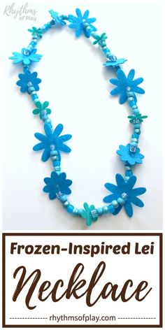 Frozen Necklace Craft - Learn how to make a beaded necklace inspired by the movie FROZEN & with this easy DIY jewelry making tutorial for kids, tweens, teens, and adults. Winter Crafts For Kids, Craft Projects For Kids, Diy Crafts For Kids, Fun Crafts, Flower Lei, Flower Crafts, Frozen Necklace, Creative Arts And Crafts, Kid Party Favors