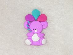 bear with balloons   card making and scrapbooking by greetincardz, £1.20