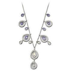 Mila Provence Lavender Necklace available at Swarovski