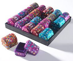 Embellished sequinned and glitter trinket chests. Great as Asian table favours and gifts for Asian weddings, hen celebrations and mehndi's by www.fuschiadesigns.co.uk.
