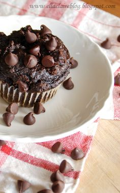 Moist Chocolatey Delicious Muffins- No Oil, Eggs, Grease