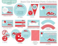 Voiture de course Birthday Party décorations & par PaperAndPip, $25.00