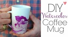 DIY Watercolor Coffee Mug - Great Valentine's Day Idea for a teacher or friend.