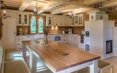 Cottage, House Design, Dining, Interior Design, Architecture, Wood, Building, Home Decor, Kitchen Small