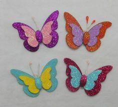 This Pin was discovered by Guz Kids Crafts, Adult Crafts, Preschool Crafts, Easy Crafts, Arts And Crafts, Butterfly Decorations, Butterfly Crafts, Flower Crafts, Butterfly Table