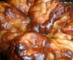 Contramuslos de pollo con salsa de cacahuete