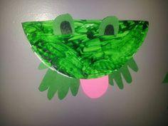 Paper plate frog, Preschool Art