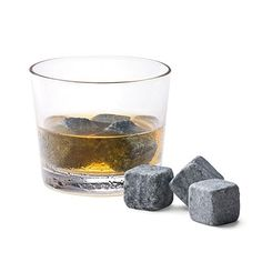 Whiskey Stones from Uncommon Goods. Chilled soapstone cubes help you chill your spirits without diluting them.