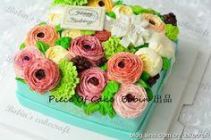 Buttercream flower cake,made by Bobin. 模仿韩式裱花