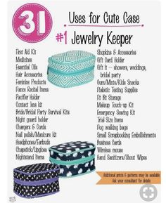 31 uses for thirty one Go check it out at www.ashleighmower Its a fantastic Barbara Short Howard
