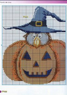 witch owl in pumpkin 1 of 2