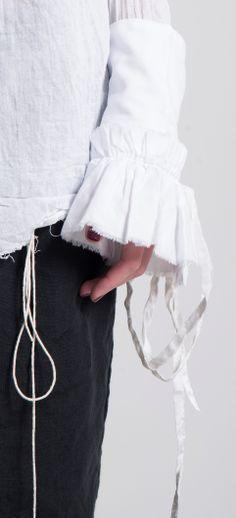 Elena Dawson Cotton Cuffs with Ribbons