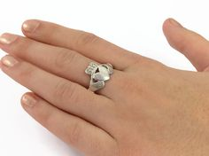 Antique sterling silver Irish Claddagh ring by LunchLadyVintage, $45.00