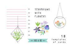 Terrariums+Flowers romantic set by Lera Efremova on Creative Market