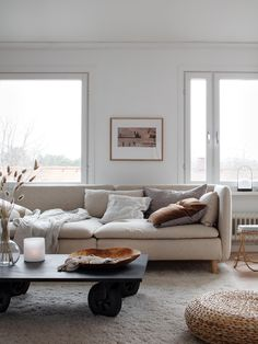 fabulous modern scandinavian living room decor ideas 30 ~ my. Ikea Living Room, Boho Living Room, Living Room Colors, Söderhamn Sofa, Ikea Sofa, Ikea Sectional, Small Living Room Design, Living Room Designs, Natural Furniture