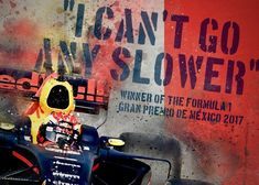 Online veilinghuis Catawiki: Max Verstappen: I Can't go any slower Thing 1, Red Bull Racing, I Cant, Race Cars, Max Max, Graphic Design, Canning, F1, Paint