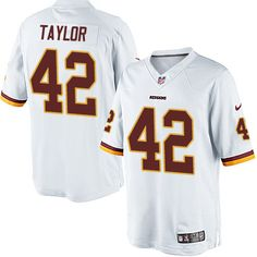 Nike Limited Charley Taylor White Youth Jersey - Washington Redskins #42 NFL Road
