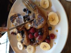 Ink 48's Print (NYC): semolina raisin French toast with bananas, local berries, and maple syrup. Pretty good but Print is overpriced...it's part of a hotel. Better than my meal though!
