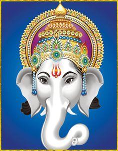 GANESH ॐ Ganesha Painting, Ganesha Art, Lord Ganesha, Lord Krishna, Jai Ganesh, Shree Ganesh, Shiva Art, Hindu Art, Indian Gods