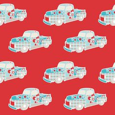 Twice as Nice C3522 Red Truck by The Quilted Fish for Riley Blake